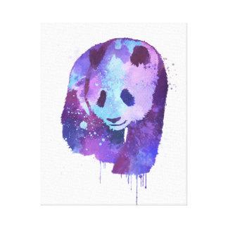 Watercolor Panda Bear Canvas Print