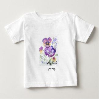 Watercolor pansies baby T-Shirt
