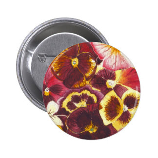 Watercolor Pansies Buttons
