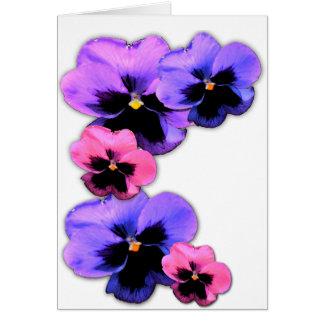 Watercolor Pansies Card