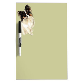 Watercolor Papillon Dog Pet Cute Animal  Art Dry-Erase Board