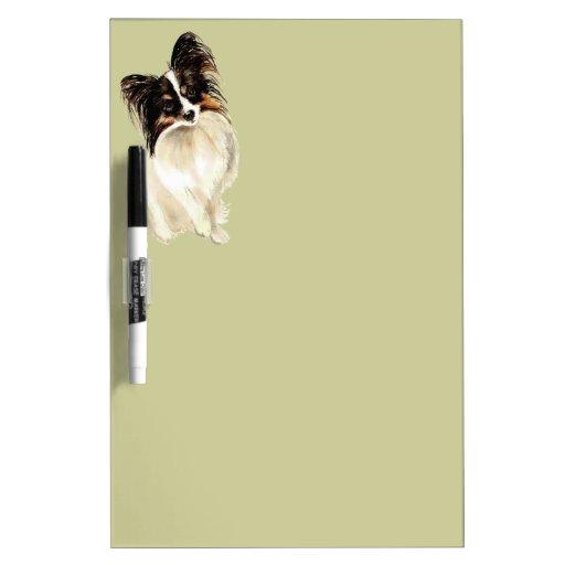Watercolor Papillon Dog Pet Cute Animal  Art Dry Erase Whiteboard