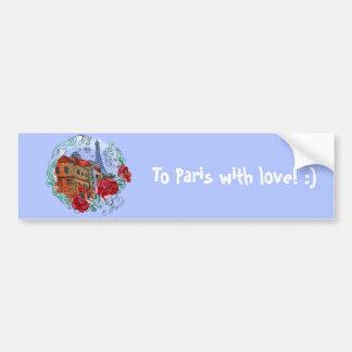 Watercolor Paris Bumper Sticker
