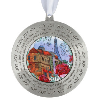 Watercolor Paris illustration Ornament