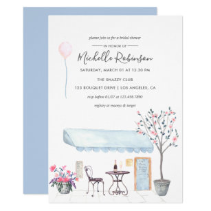 Paris themed bridal shower invitations announcements zazzle watercolor paris themed bridal shower invitation filmwisefo