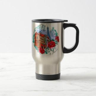 Watercolor Paris Travel Mug