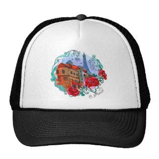 Watercolor Paris Trucker Hat