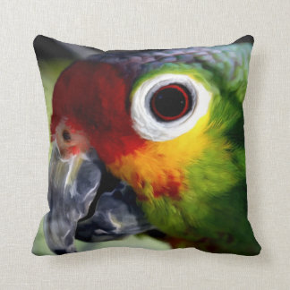 Watercolor Parrot Print Pillow