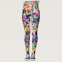 Watercolor Parrots 2 Leggings