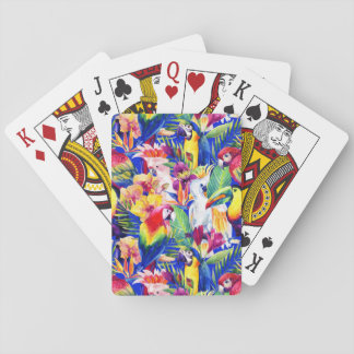 Watercolor Parrots Playing Cards