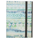 Watercolor Pastel Aztec Inspired Pattern iPad Cover