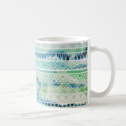 Watercolor Pastel Aztec Inspired Pattern Mug