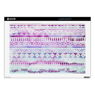 Watercolor Pastel Aztec Inspired Pattern Laptop Skins
