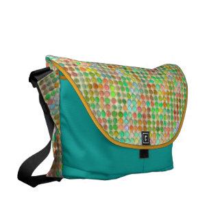 Watercolor Pastel Dots Courier Bag