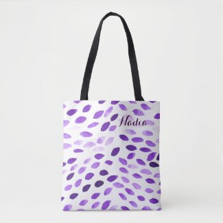 Watercolor Pattern with customizable name Tote Bag