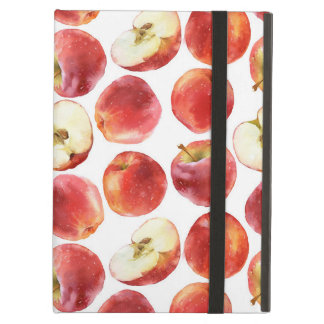 Watercolor pattern with red apples case iPad air cover
