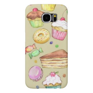 Watercolor pattern with sweets samsung galaxy s6 case