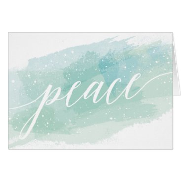 Professional Business Watercolor Peace Holiday Greeting Card