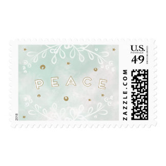 Watercolor Peace Holiday Stamps