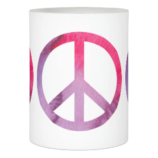 Watercolor Peace Sign Flameless Candle