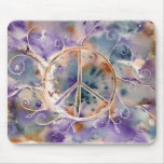Watercolor Peace Sign Mouse Pad