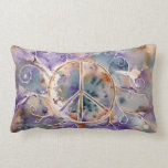 Watercolor Peace Sign Pillow