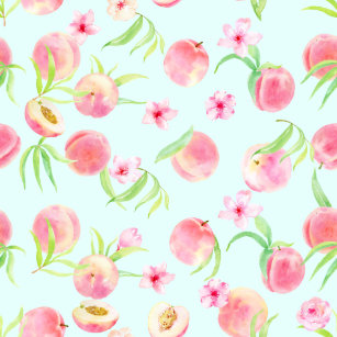 Peach wrapping paper zazzle watercolor peach and flower wrapping paper mightylinksfo