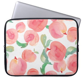 Watercolor Peaches Computer Sleeve