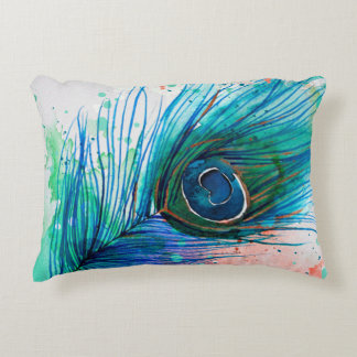 feather accent pillows zazzle
