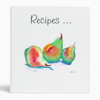 Watercolor Pears (K.Turnbull Art) Binder