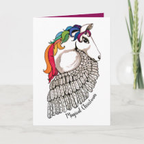 Watercolor Pegasus With Rainbow Hair Card