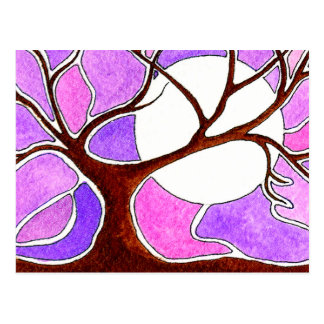 Watercolor Pen and Ink Tree Postcard
