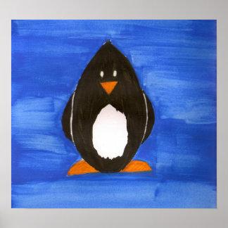 Watercolor Penguin Poster