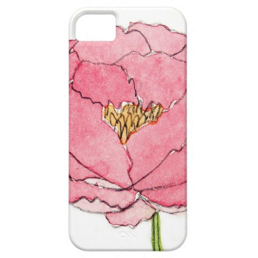 Watercolor Peony iPhone 5 Case