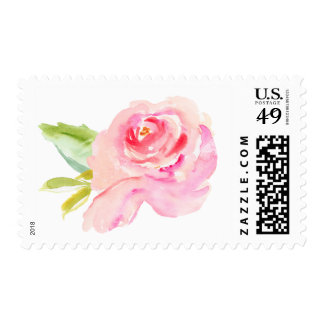 Watercolor Peony Postage Stamp
