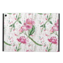 watercolor peony,watercolor sprays case for iPad air