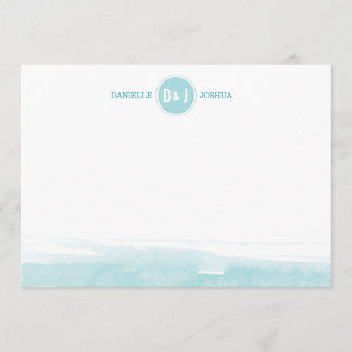 Watercolor Personalized Note cards