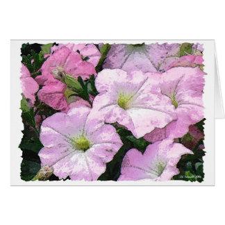 Watercolor Petunias Card