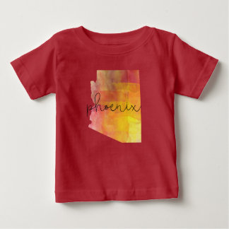 Watercolor Phoenix Arizona Custom Color Baby T-Shirt
