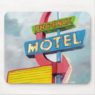 Watercolor Phoenix Motel Mouse Pad