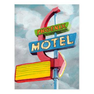 Watercolor Phoenix Motel Postcard