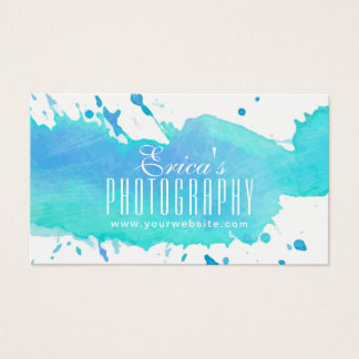 Watercolor Photography Modern Photographer Business Card