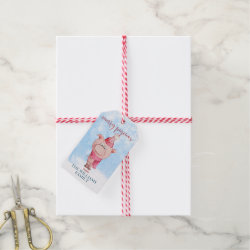 Matte Gift Tag with Funny Halloween Mickey Mouse as Stitch design