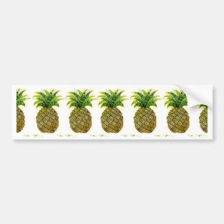 Watercolor Pineapple Bumper Sticker
