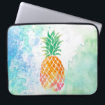 "watercolor pineapple computer sleeve<br><div class=""desc"">tropical fruit pineapple</div>"