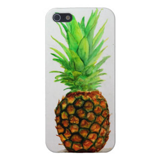 Watercolor Pineapple iPhone 5 Gloss Case Cases For iPhone 5