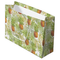 Watercolor Pineapple Pattern Large Gift Bag