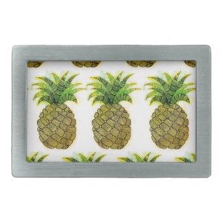 Watercolor Pineapple Rectangular Belt Buckle