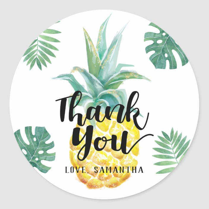 Personalized Set of 12 Pineapple Stickers