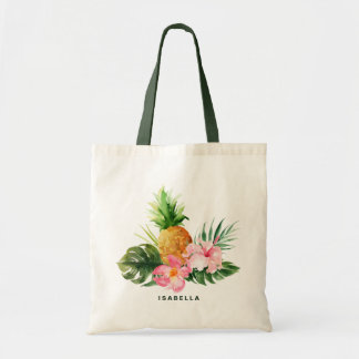 Watercolor Pineapple Tropical Custom Tote Bag